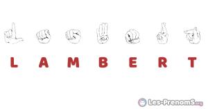 Lambert en langue des signes