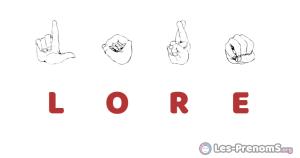Lore en langue des signes
