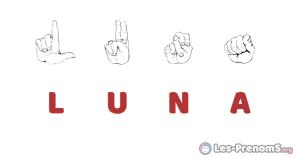 Luna en langue des signes