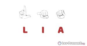 Lia en langue des signes