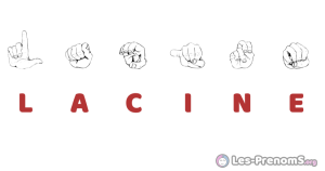 Lacine en langue des signes