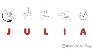 Julia en langue des signes