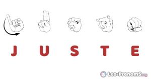Juste en langue des signes