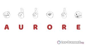 Aurore en langue des signes